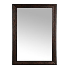 Bronze Beveled Framed Wall Mirror, 29x41 in.
