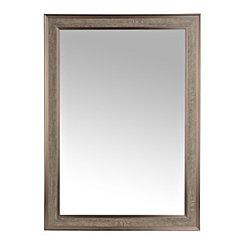 Dark Gray Woodgrain Wall Mirror, 29x41 in.