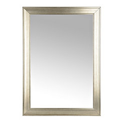 Silver Beveled Framed Wall Mirror, 29x41 in.