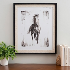 Black Stallion Framed Art Print