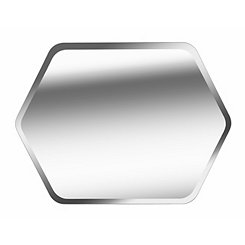 Hexagon Frameless Moreno Mirror, 32x24 in.