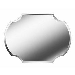 Shield Frameless Moreno Mirror, 38x28 in.