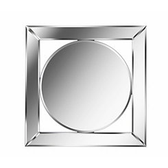 Open Mirrored Frame Scribe Wall Mirror