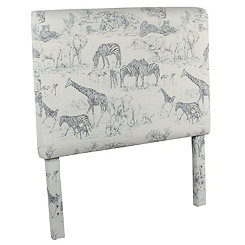 Safari Print Kids Twin Headboard
