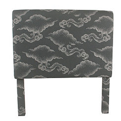 Gray Clouds Kids Twin Headboard