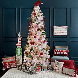 Pre-Lit Slim Nordic Pine Christmas Tree