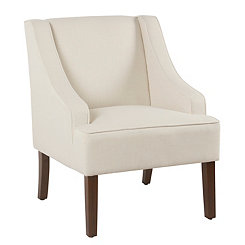 Cream Swoop Accent Chair