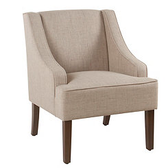 Linen Swoop Accent Chair