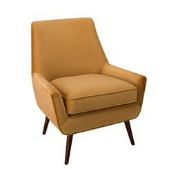 Gold Velvet Modern Accent Chair