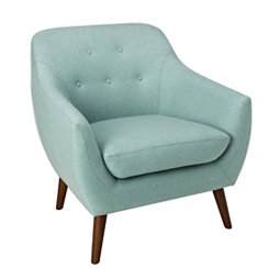Aqua Tufted Modern Accent Chair