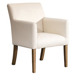 Cream Faux Leather Dining Chair