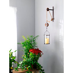 Metal Pulley Wall Sconce