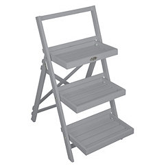 Gray Ladder Plant Stand Shelf