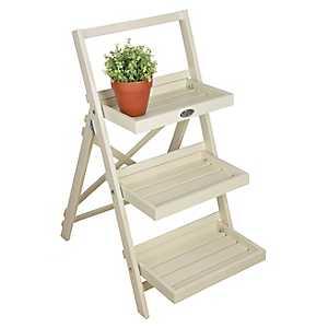 Ivory Ladder Plant Stand Shelf