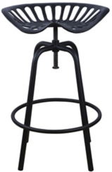 Black Tractor Seat Stool
