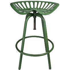 Green Tractor Seat Stool