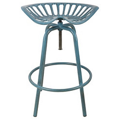 Blue Tractor Seat Stool