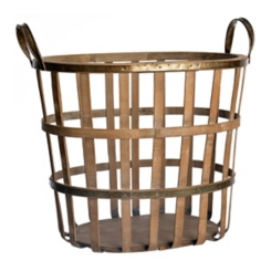 Bamboo and Metal Patrick Basket
