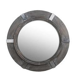 Roger Round Aluminum Wall Mirror