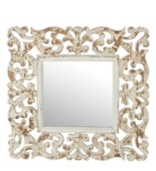 Mandy Vintage Carved Wood Wall Mirror