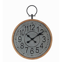 Candace Galvanized Vintage Wall Clock