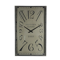 Clark Galvanized Metal Rectangular Wall Clock