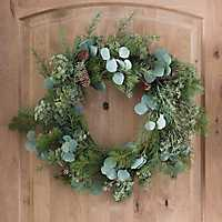 Pine and Succulent Christmas Wreath