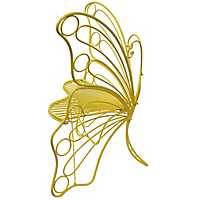 Yellow Metal Butterfly Chair