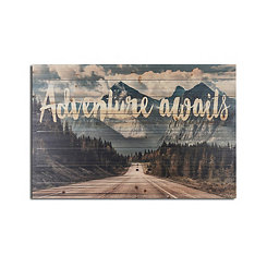 Adventure Awaits Wood Art Print