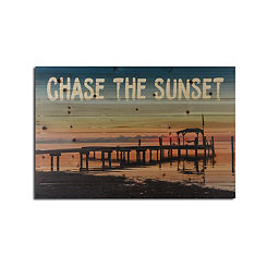 Chase the Sunset Wood Art Print