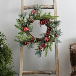 Red Berry and Bell Christmas Wreath