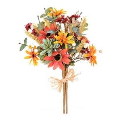 Fall Eucalyptus and Succulent Mixed Bouquet