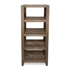 Slatted Wood 4-Tier Rustic Shelf