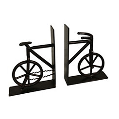 Black Bicycle Bookends, Set of 2