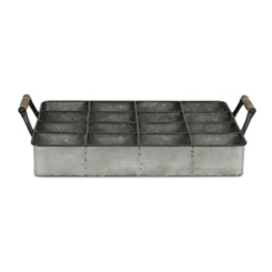 Galvanized Metal Compartment Caddy