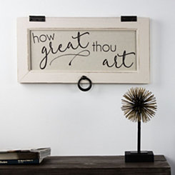 How Great Thou Art Rustic Framed Wood Wall Plaque