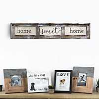 Home Sweet Home Rustic Wood Framed Wall Plaque