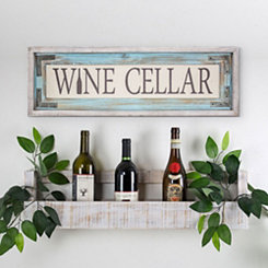 Wine Cellar Wood Framed Wall Plaque