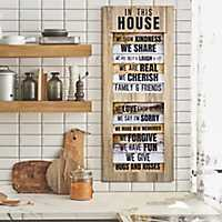 In This House Shutter Wood Wall Plaque
