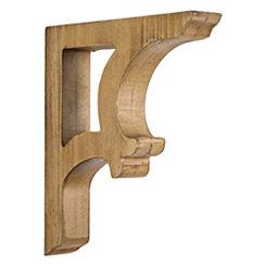Natural Wood Curved Corbels, Set of 2