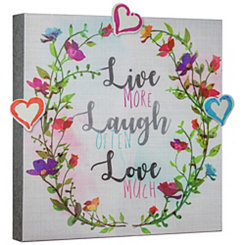 Floral Wreath Magnetic Message Board with Magnets