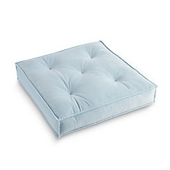 Ice Blue Victoria Velvet Floor Pillow