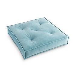 Teal Victoria Velvet Floor Pillow