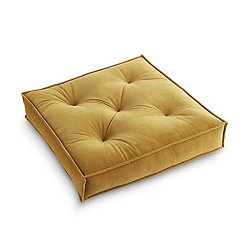 Gold Victoria Velvet Floor Pillow