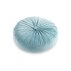 Teal Velvet Buttercup Round Pillow