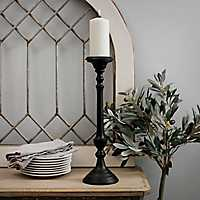 Black Metal Tapered Candlestick, 18 in.