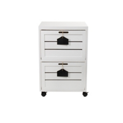 White 2-Drawer Filing Cabinet with Chalkboards