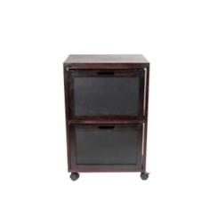 Black 2-Drawer Chalkboard Front Filing Cabinet