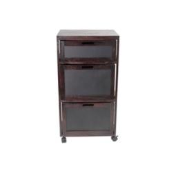 Black 3-Drawer Chalkboard Front Filing Cabinet