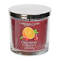 Cranberry and Orange Jar Candle